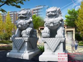 北京王府门口摆放石狮子的寓意