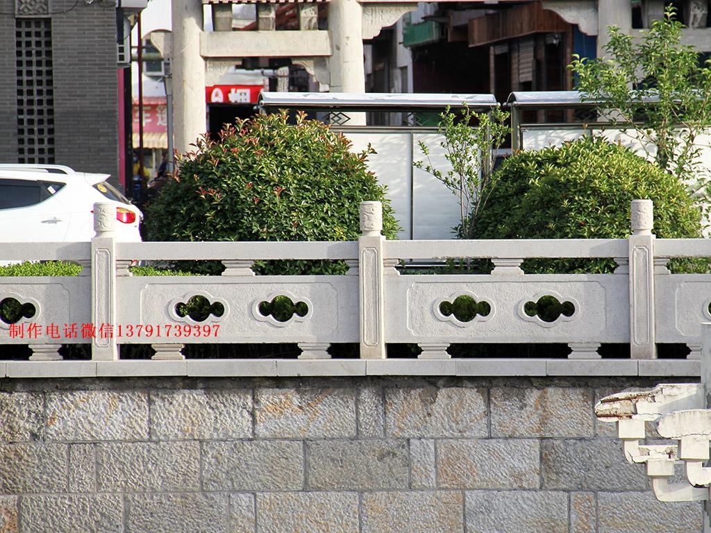 河道栏杆图片大全河道花岗岩护栏雕刻设计